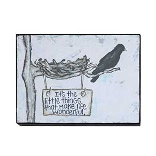 Gallery Black Birds Wall Decor 7-3/4-in L X 5-3/4- in H (It's The Little Things That Make Life Wonderful) - Mellow Monkey