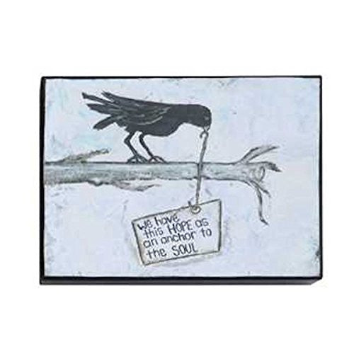 Gallery Black Birds Wall Decor 7-3/4-in L X 5-3/4- in H (We have this HOPE as an anchor to the SOUL) - Mellow Monkey