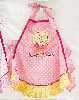 Sweet Treat Embroidered Cotton Child's Apron