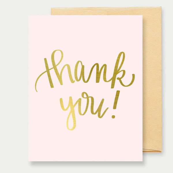 Sweet Water Decor - Thank You! (Gold Foil Pink) Greeting Card