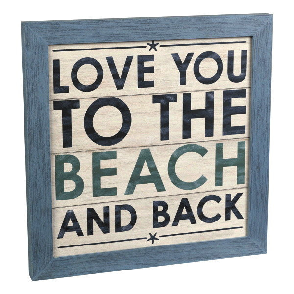 Love You To The Beach And Back - Framed Wall Decor 15-3/4-in