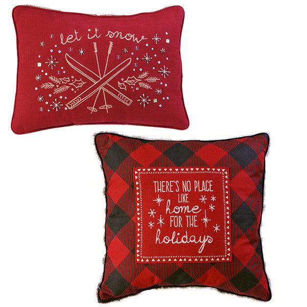December to Remember Winter Lodge Holiday Pillow Set - Mellow Monkey  - 1