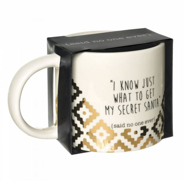 I Know Just What to Get My Secret Santa (Said No One Ever) Ceramic 12-oz Mug Gift Boxed 472987 - Mellow Monkey  - 2