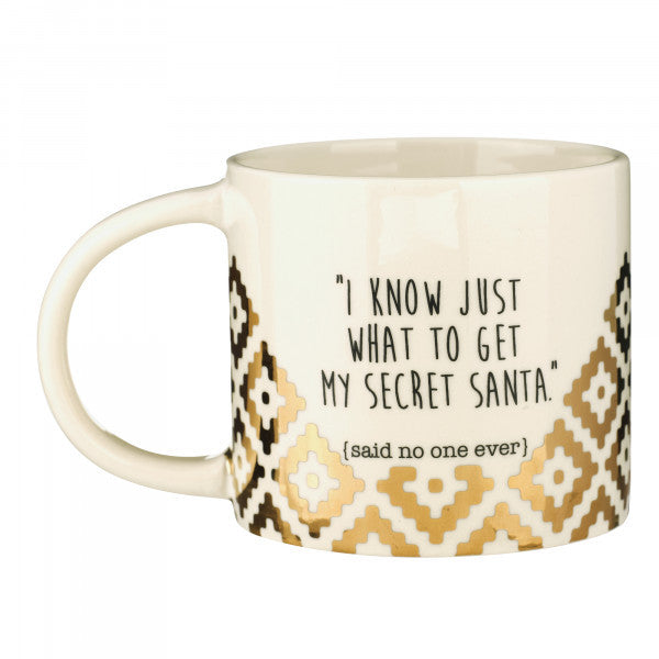 I Know Just What to Get My Secret Santa (Said No One Ever) Ceramic 12-oz Mug Gift Boxed 472987 - Mellow Monkey  - 1