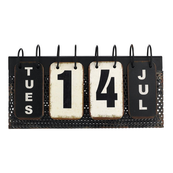 Vintage Perpetual Desk Calendar - Metal Reproduction 10-3/4-in