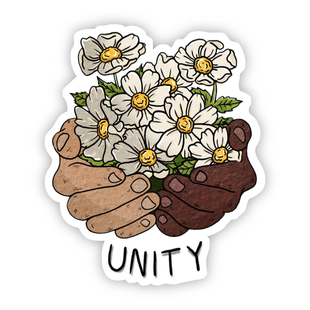 Unity Floral Hands - Vinyl Decal Sticker