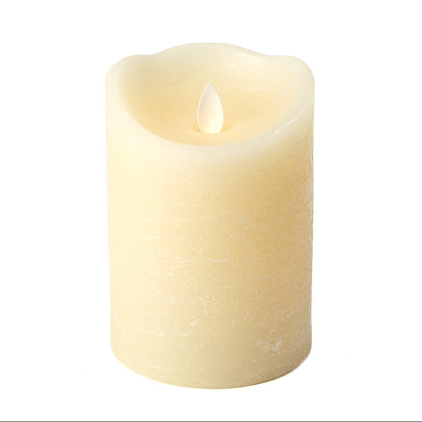 Dazzler Unscented Wax Based Flickering Wick Candle 5 x 3-1/2 in