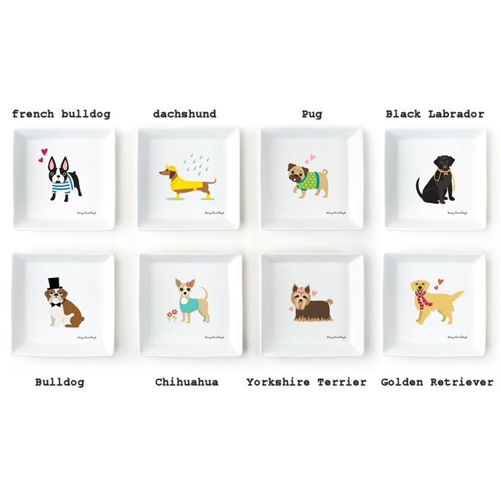 SCB Kennel Club Ceramic Dog Breed Plates Designed by Stacy Claire Boyd