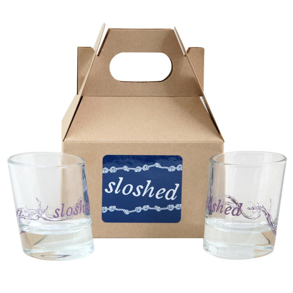 Sloshed Shot Glass Gift Set | Set of 2