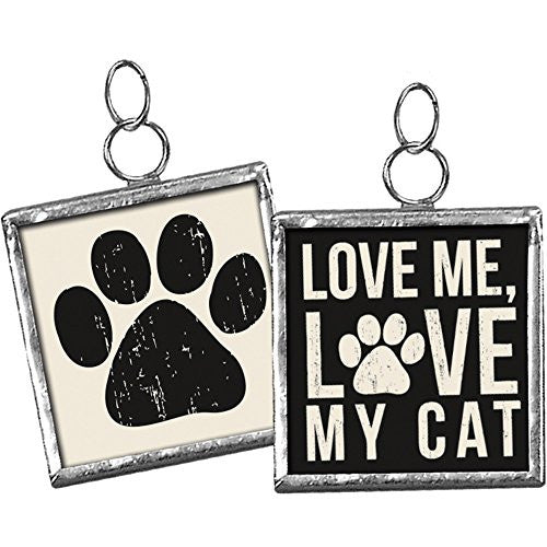 Love Me, Love My ... Pet Square Charm Sign Pendant (Love Me Love My CAT) - Mellow Monkey