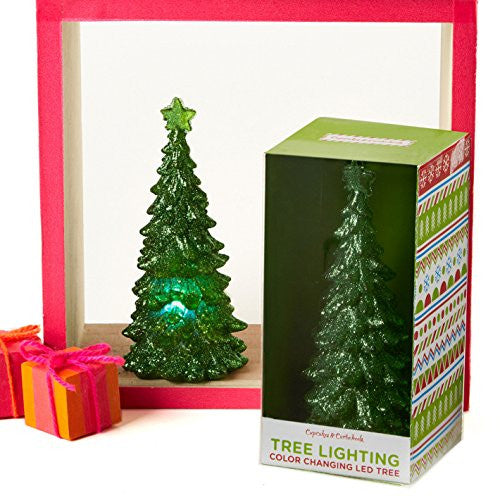 Tree Lighting - Color Changing Glitter LED Christmas Tree Light - Mellow Monkey