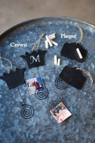 Mini Chalkboard Note & Photo Holders - Set of 2 (Crown) - Mellow Monkey