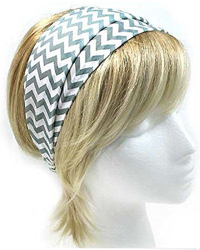 Fashion Chevron Pattern Design Versatile Headwrap / Headband (Grey) - Mellow Monkey