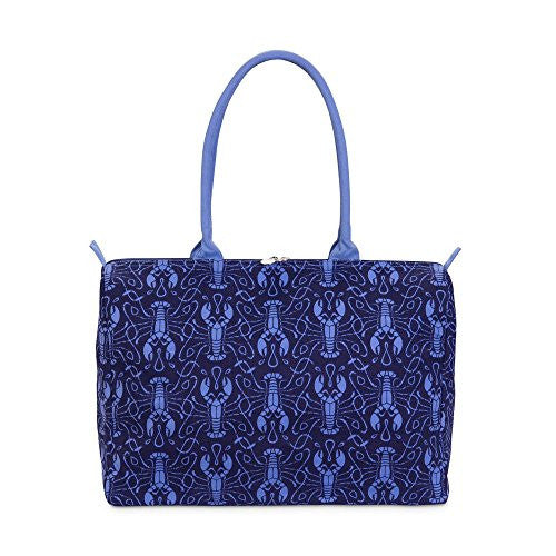 Maine Squeeze Beach Duffle Bag - Lobster Print in Navy / Cornflower - Mellow Monkey