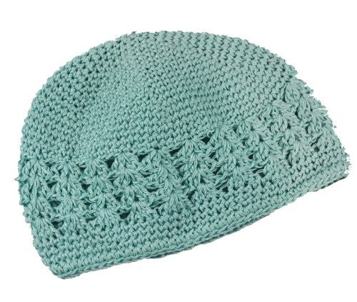 Pastel Crochet Infant Hats (0-12 months, Seafoam Green) - Mellow Monkey