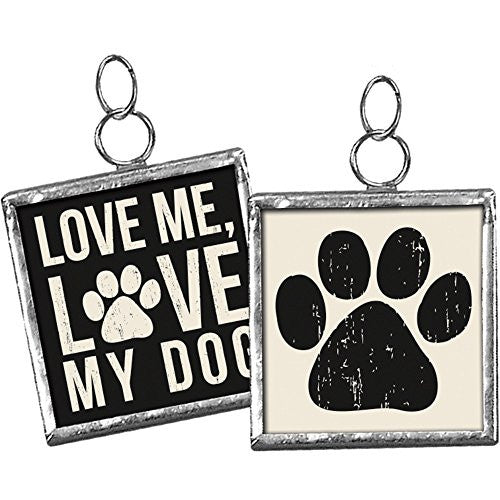 Love Me, Love My ... Pet Square Charm Sign Pendant (Love Me Love My DOG) - Mellow Monkey