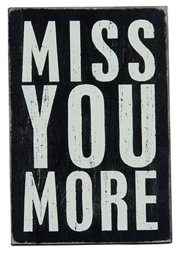Miss You More - Wooden Greeting Card for Birthdays, Anniversaries, Weddings, and Special Occasions - Mellow Monkey