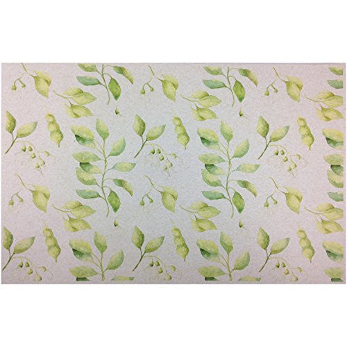 French Paper Dining Placemats - Set of 12 (Sweet Pea (Green-50 count bulk pack)) - Mellow Monkey