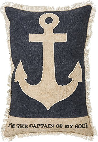 I'm The Captain Of My Soul - Anchor Decorative Throw Pillow 15-In - Mellow Monkey