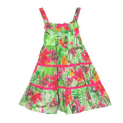 Blueberi Boulevard Tropical Floral Tiered Sundress (4) - Mellow Monkey