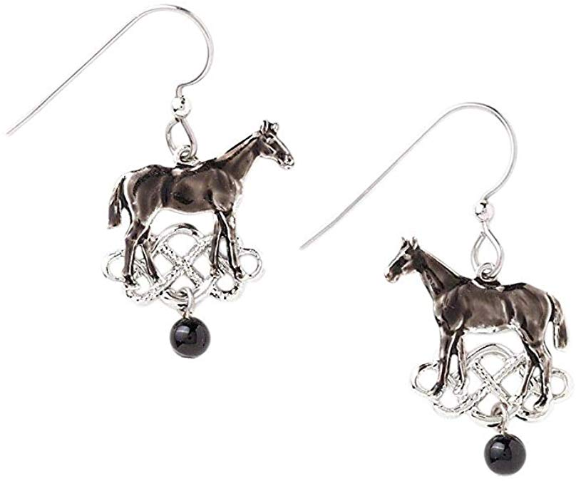 Silver Forest Silvertone Horse Dangle Earrings