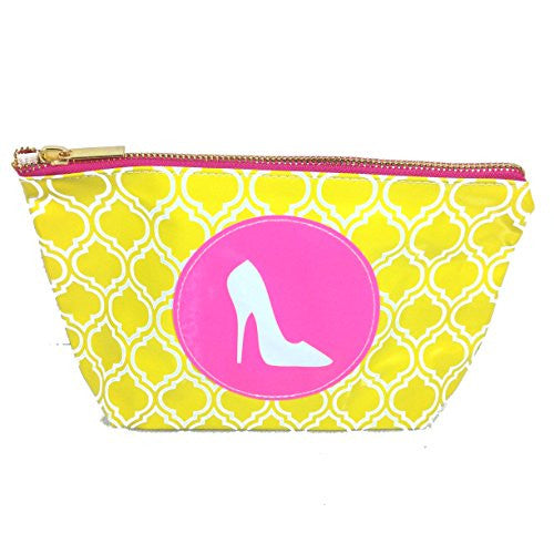 Chit Chat Patent Leather Zippered Cosmetic Case Pouch Bag (Shoe) - Mellow Monkey
