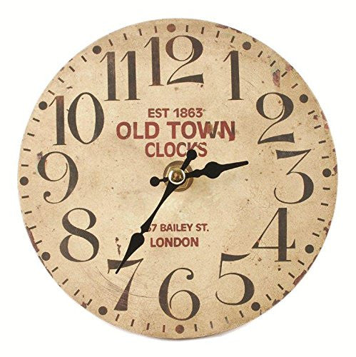 Old Town Clocks English Vintage Wall / Desk Clock 1863 Reproduction - 5-in - Mellow Monkey