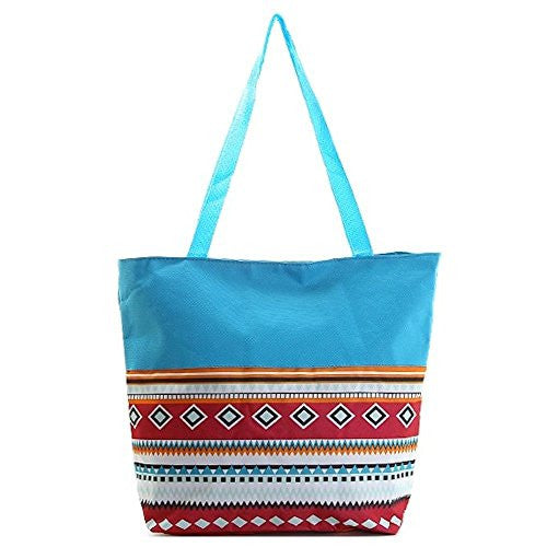 Aztec Beach Town Utility Tote Bag - 16-in - Mellow Monkey