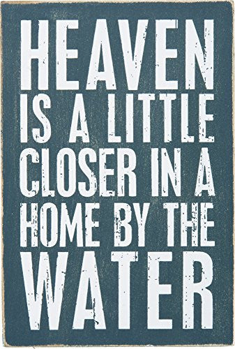 Heaven Is Closer In A Home By The Water - Mailable Wooden Greeting Post Card 6-in - Mellow Monkey