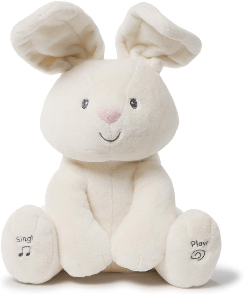 Baby GUND Flora The Bunny Animated Plush Stuffed Animal Toy - Cream - 12-in
