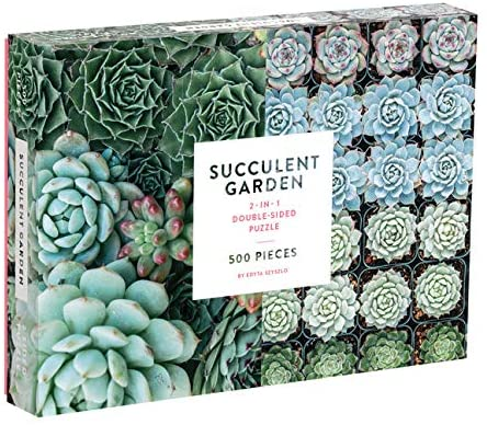 Succulent Garden 500 Piece Double Sided Jigsaw Puzzle