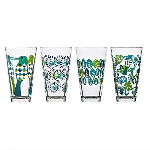 Fantasy Tumbler Glassware Designed by Hanna Werning - Set of 4 Glasses - Mellow Monkey