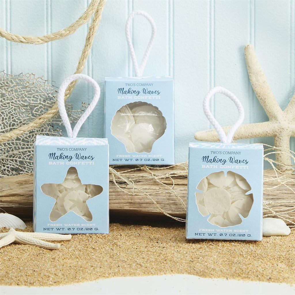 Making Waves Bath Confetti with Ocean Breeze Scent in Gift Box