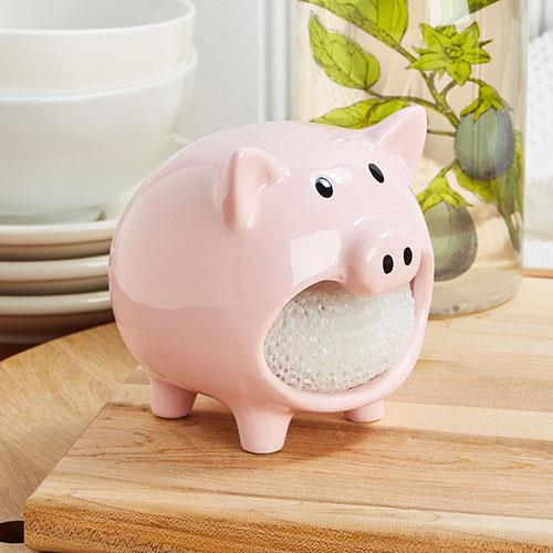 Pig Scrubby Holder Set