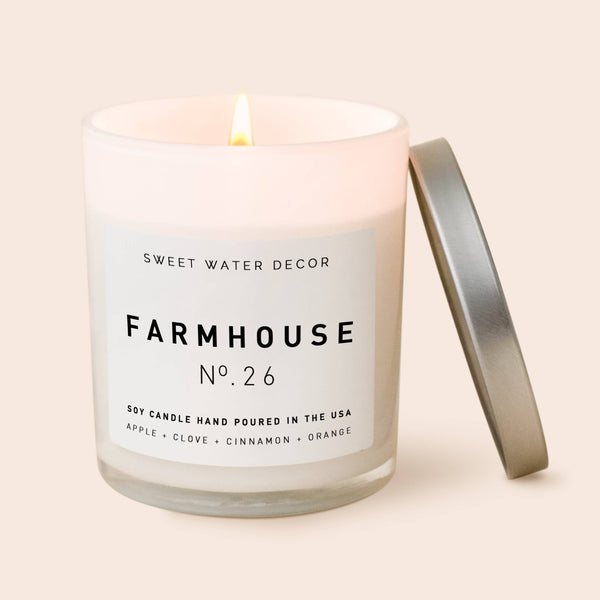 Farmhouse Soy Candle - White Jar Candle