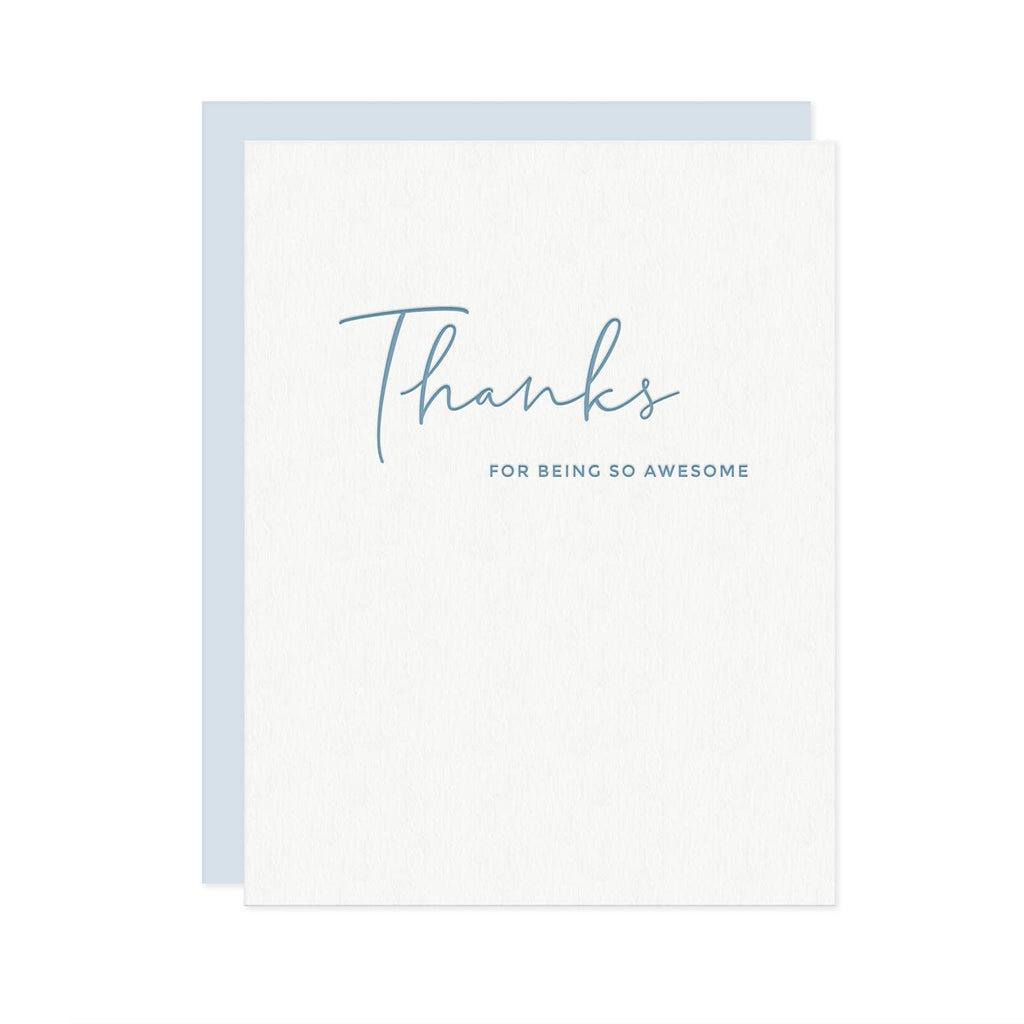 Thanks For Being So Awesome - Appreciation Gratitude Greeting Card