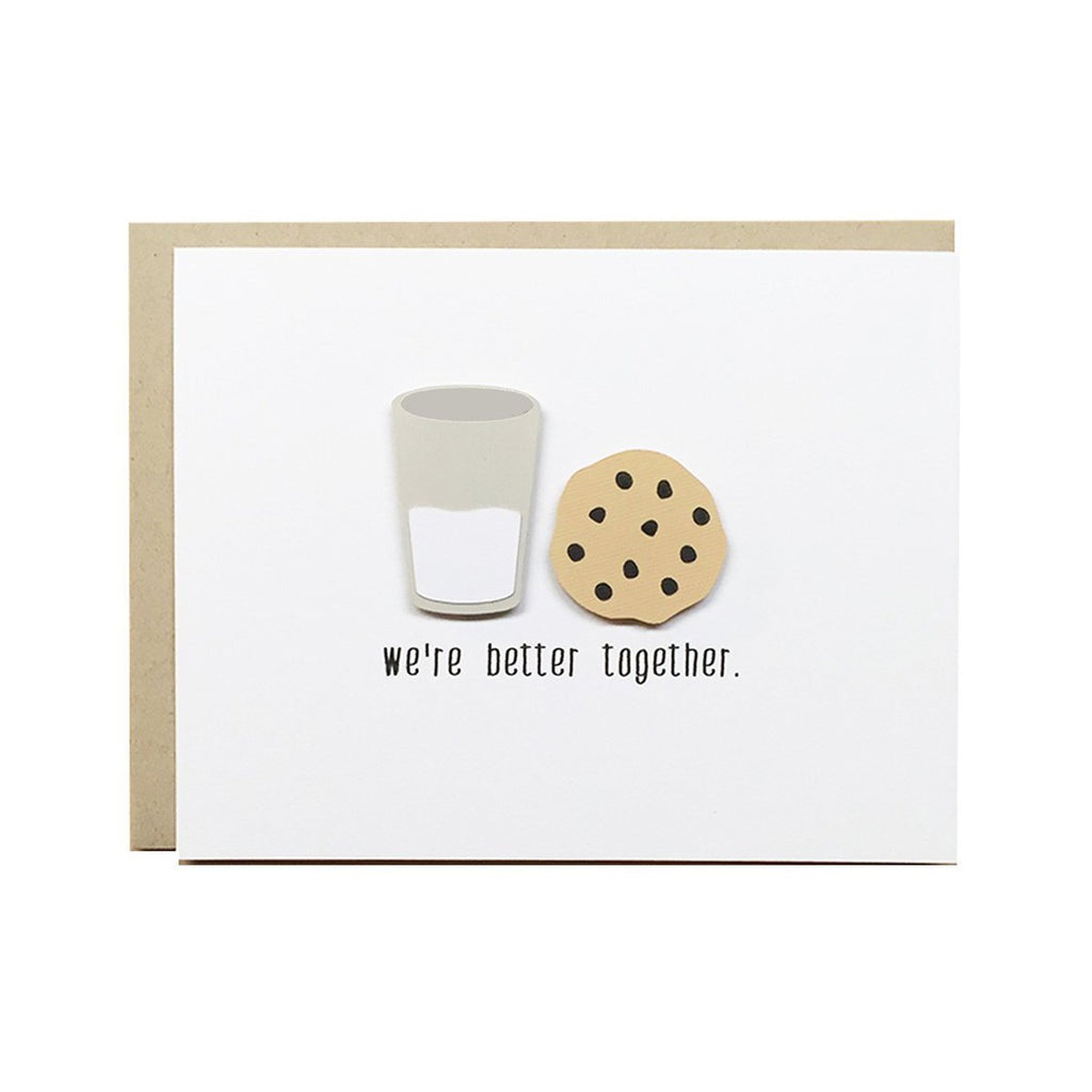 We're Better Together Card - Cookies and Milk