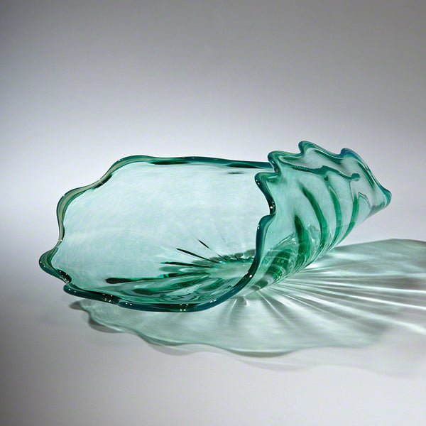 Hand Blown Jellyfish Bowl - Spearmint