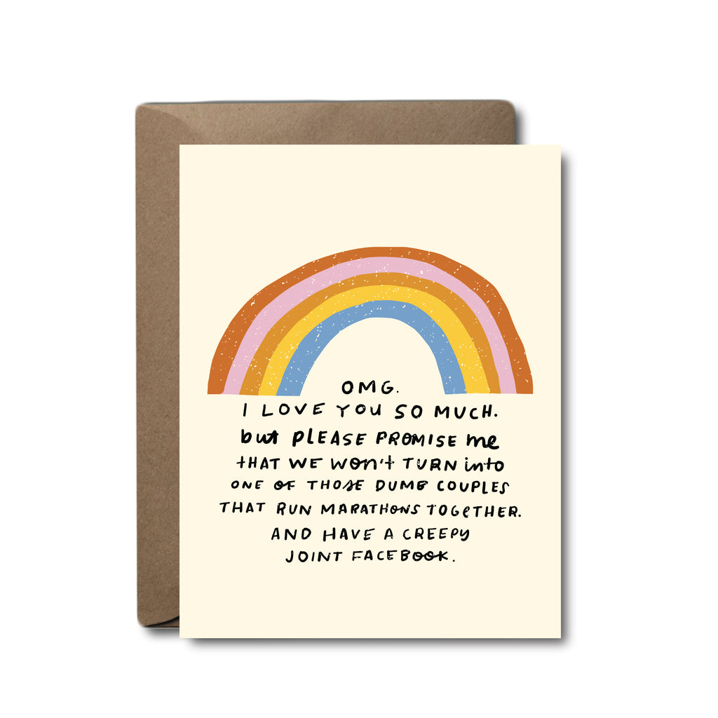 OMG I Love You So Much, But ... Joint Facebook Love Greeting Card
