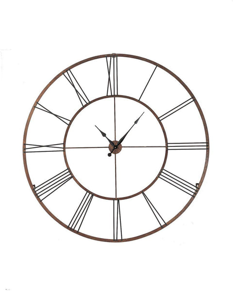 Jumbo Roman Numeral Wall Clock Iron - 50-in