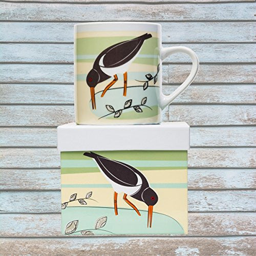 Magpie Coast Big Mug - Coastal Aquatic Birds (Oystercatcher) - Mellow Monkey