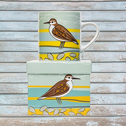 Magpie Coast Big Mug - Coastal Aquatic Birds (Sandpiper) - Mellow Monkey