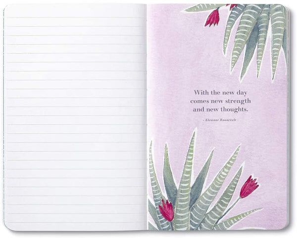 Write Now Journal: Each dawn holds a new hope for a new plan. - Softcover with periodic typeset quotations, 128 lined pages