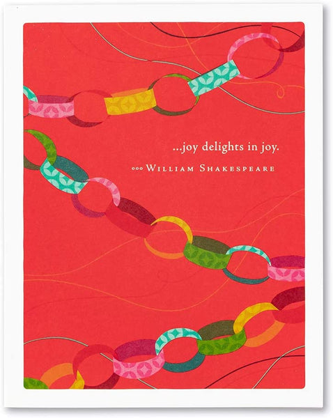 "Positively Green Greeting Card -""…joy delights in joy."" by William Shakespeare"