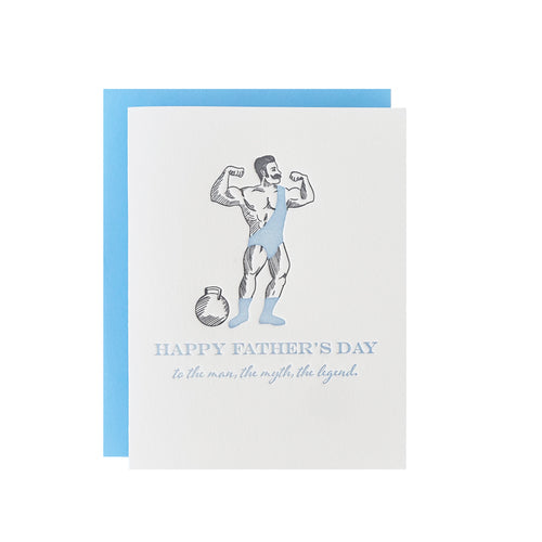 Man, Myth, Legend Father's Day Greeting Card