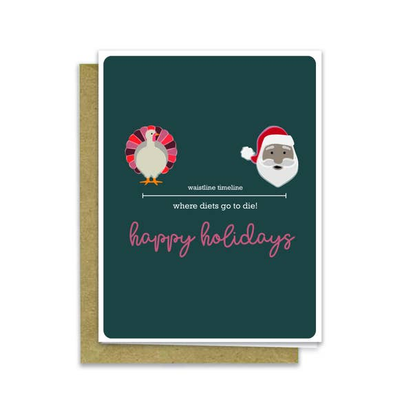 Happy Holidays -  Where Diets Go To Die - Holiday Greeting Card