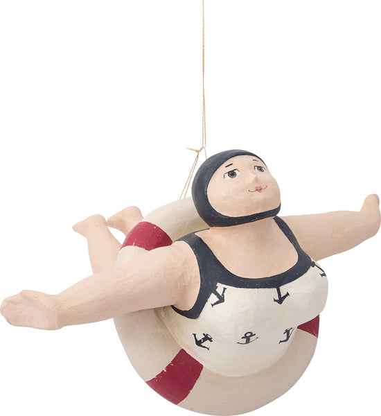 Vintage Hanging Little Bather Female 12-1/8-in