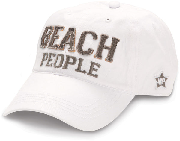 Beach People - Unisex Adjustable Embroidered Baseball Cap - White