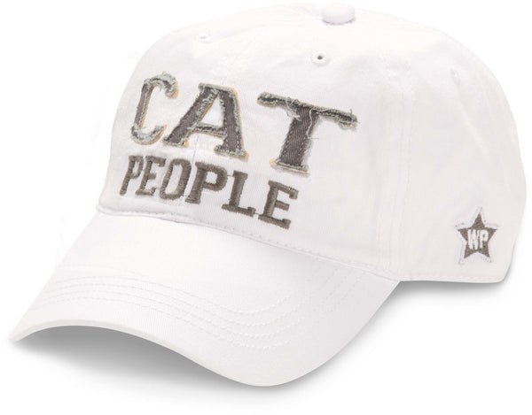 Cat People - Unisex Adjustable Embroidered Baseball Cap - White