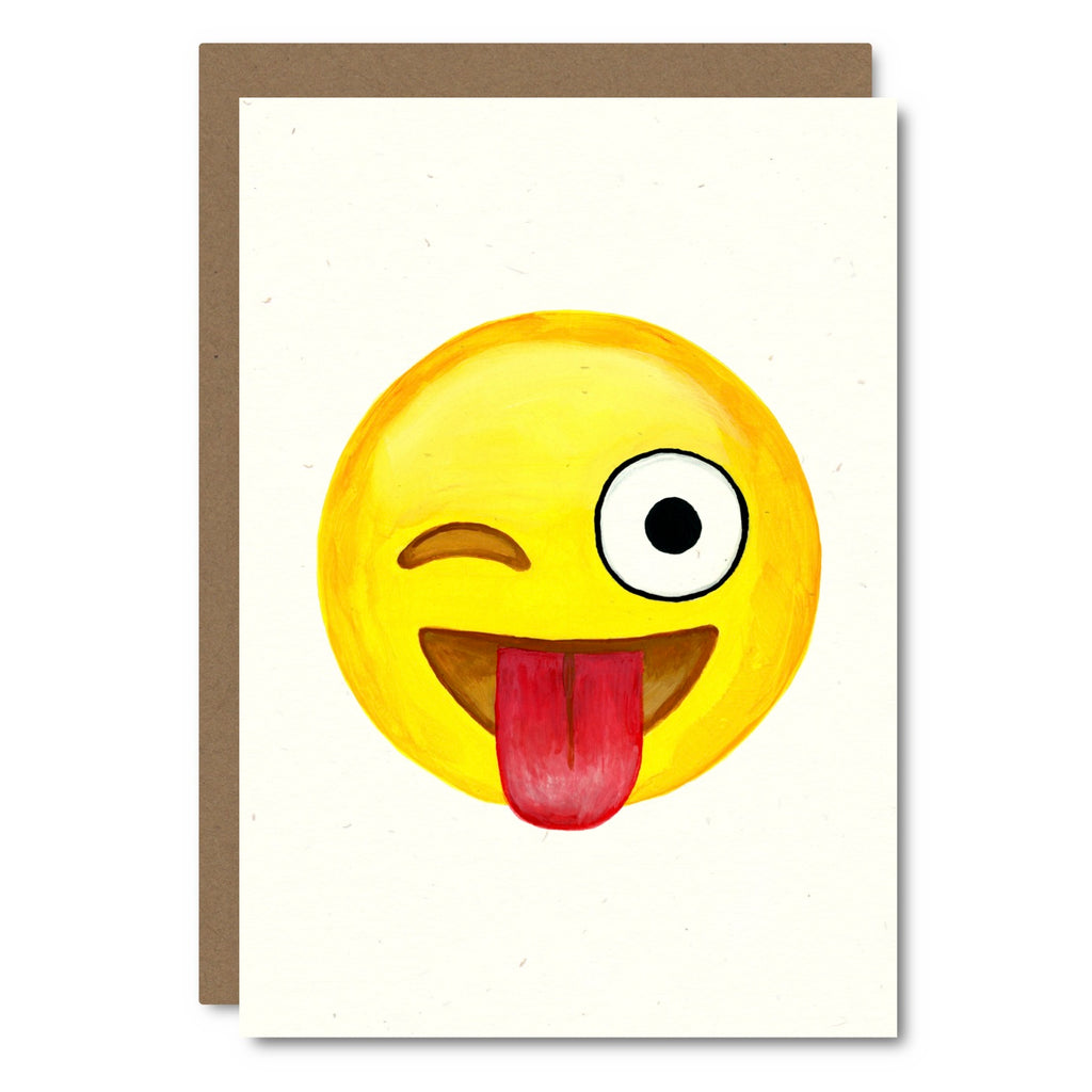 Little City Love - Emoji Silly! Tongue Out Card